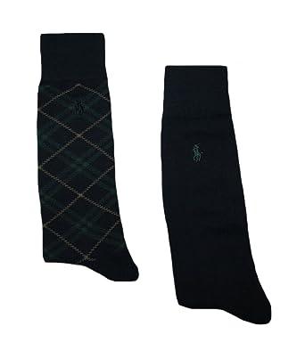Polo Ralph Lauren Men s Dress Socks - 2 Pair (Navy Green) at Amazon ... d43b786af8ba