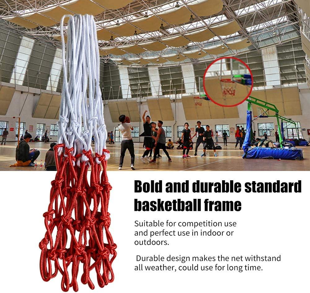 2pcs Red de Baloncesto al Aire Libre xiegons0 Red de Baloncesto Reemplazo de Red de Baloncesto Duradero Fuerte Poli/éster Trenzado Red de Baloncesto Ajuste est/ándar Interior y Exterior