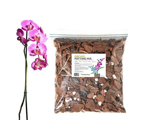 Organic Orchid Potting Mix by Perfect Plants - 4 Quarts Special Blend for Proper Root Development on All Orchid Plant Types