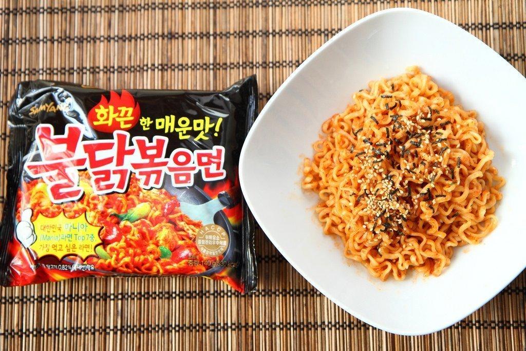 Samyang Instant Ramen Noodles, Halal Certified, Spicy Stir-Fried Chicken Flavor (Pack of 10)
