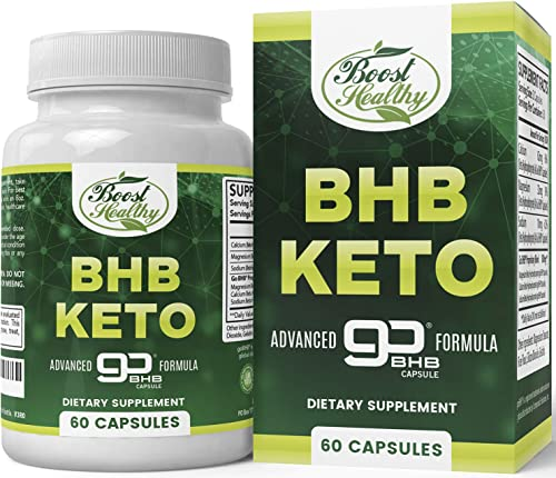 Keto BHB Capsules, Create Energy from Fat with Ketosis, Support Metabolism, Manage Craving, Boost Focus Energy, Perfect Ketogenic Supplements for Women and Men – 30 Day Supply