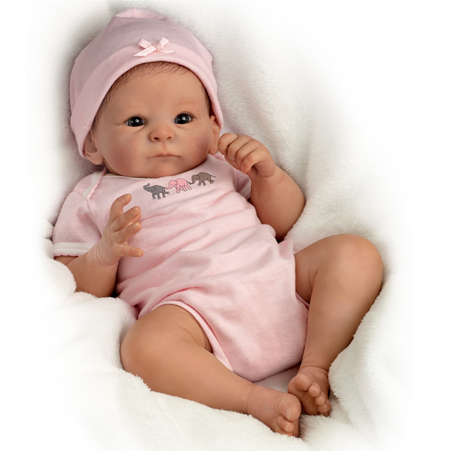 Tasha Edenholm Lifelike Poseable Little Peanut Baby Doll by The Bradford Exchange