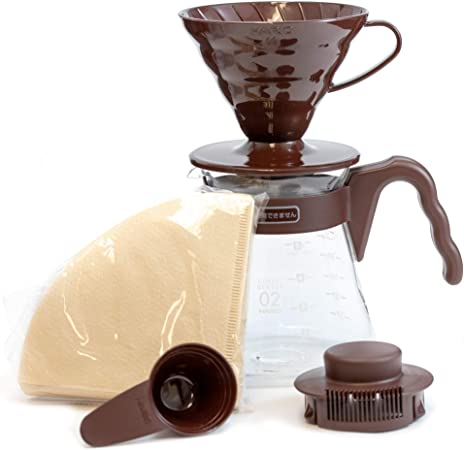 HARIO V60 Coffee Dripper and Glass Server Set 700ml 02 Size Brown ...