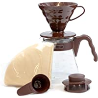 Hario V60 Coffee Dripper and Glass Server Set