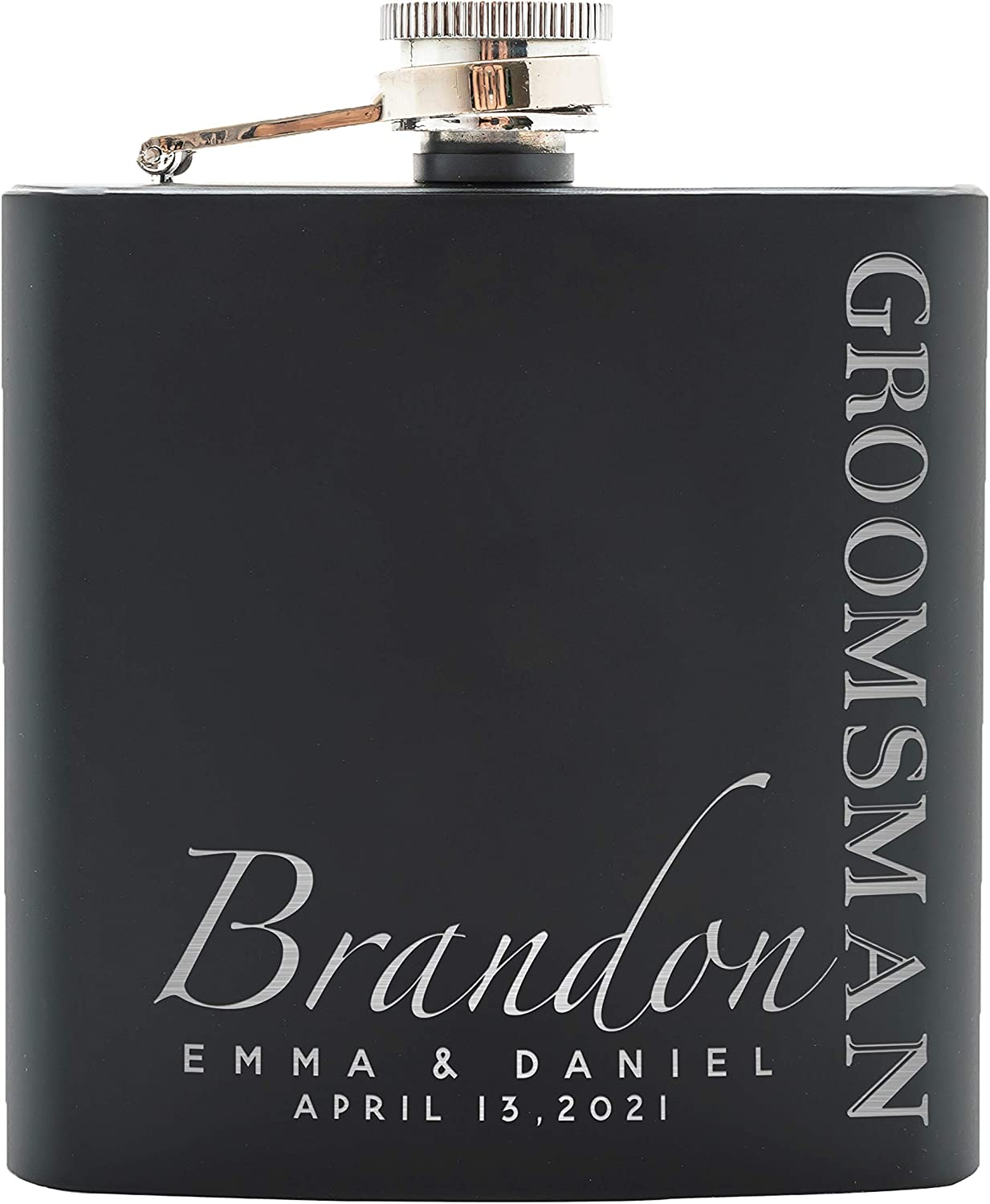Wedding gift ideas for Bridesmaids personalized flask gift sets