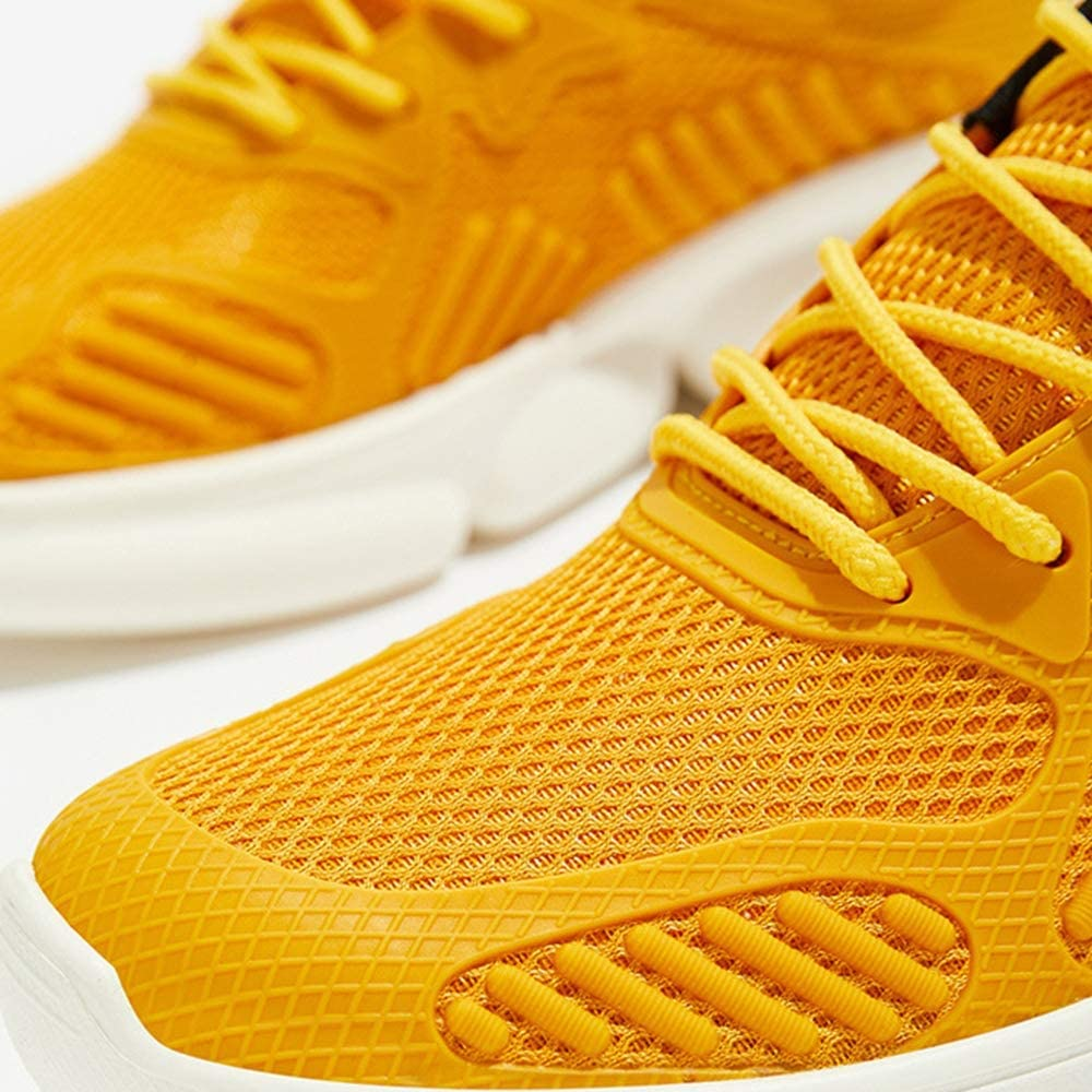 LH Spring and Autumn Mens Outdoor Sports Shoes Trend Wild Youth Casual Shoes Running Shoes Sneakers Yellow,43