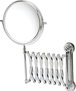 Danielle Wall Mounted Chrome Extending Mirror