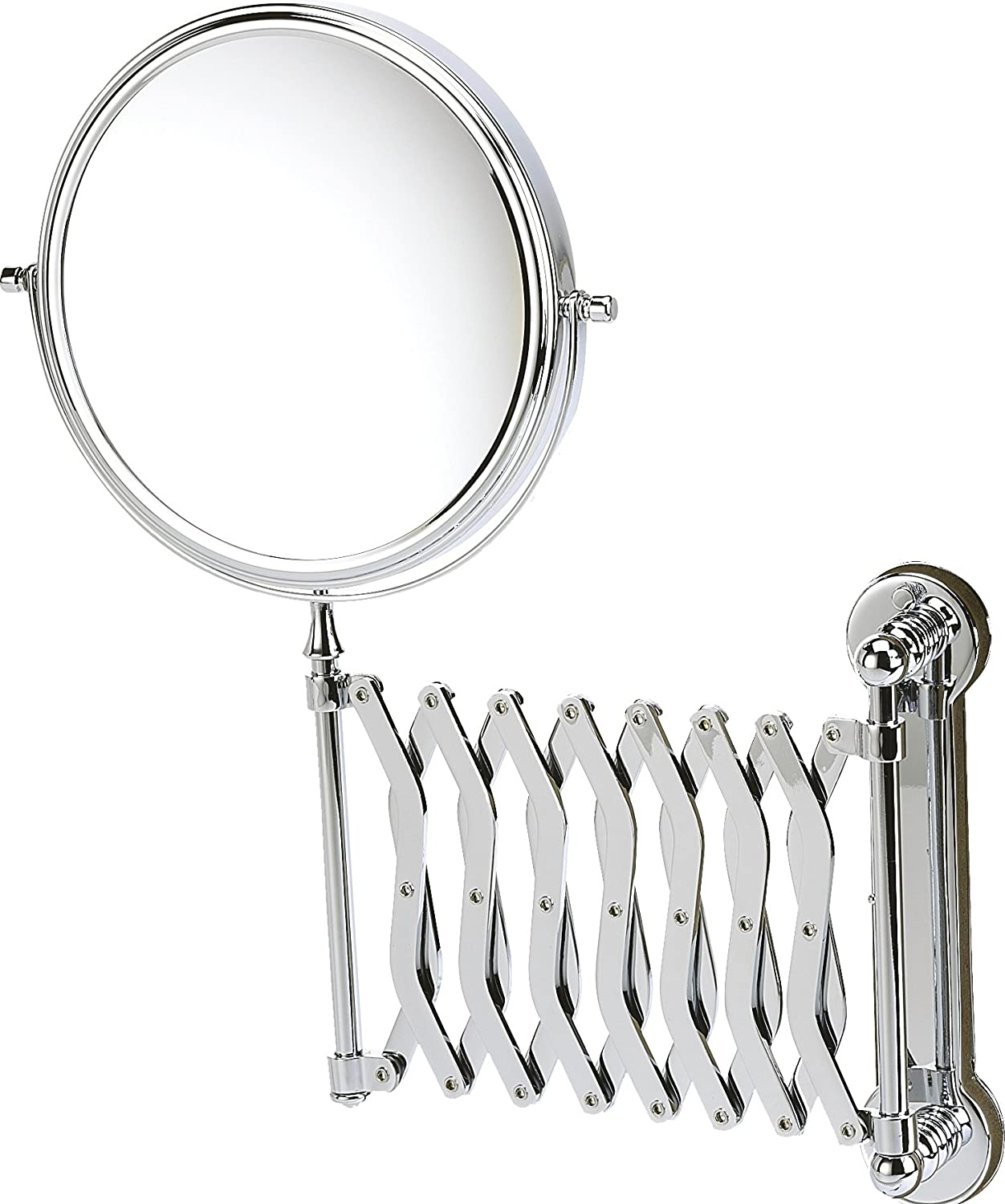 Danielle Wall Mounted Chrome Extending Mirror Amazoncouk Beauty