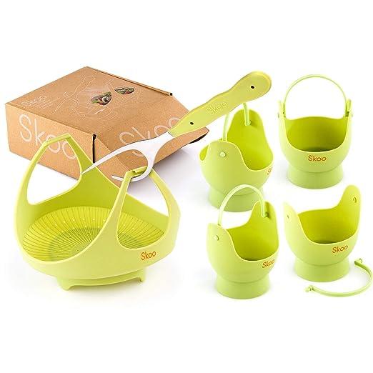 Skoo - Cesta para cocinar al vapor de verduras + huevos y ...