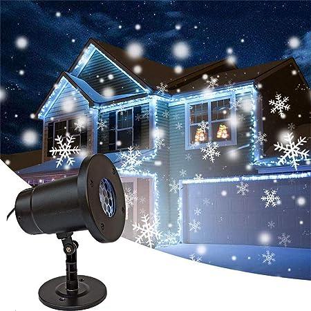 AUZZO HOME Proyector Luces de Nieve LED Luz de Paisaje giratoria a ...