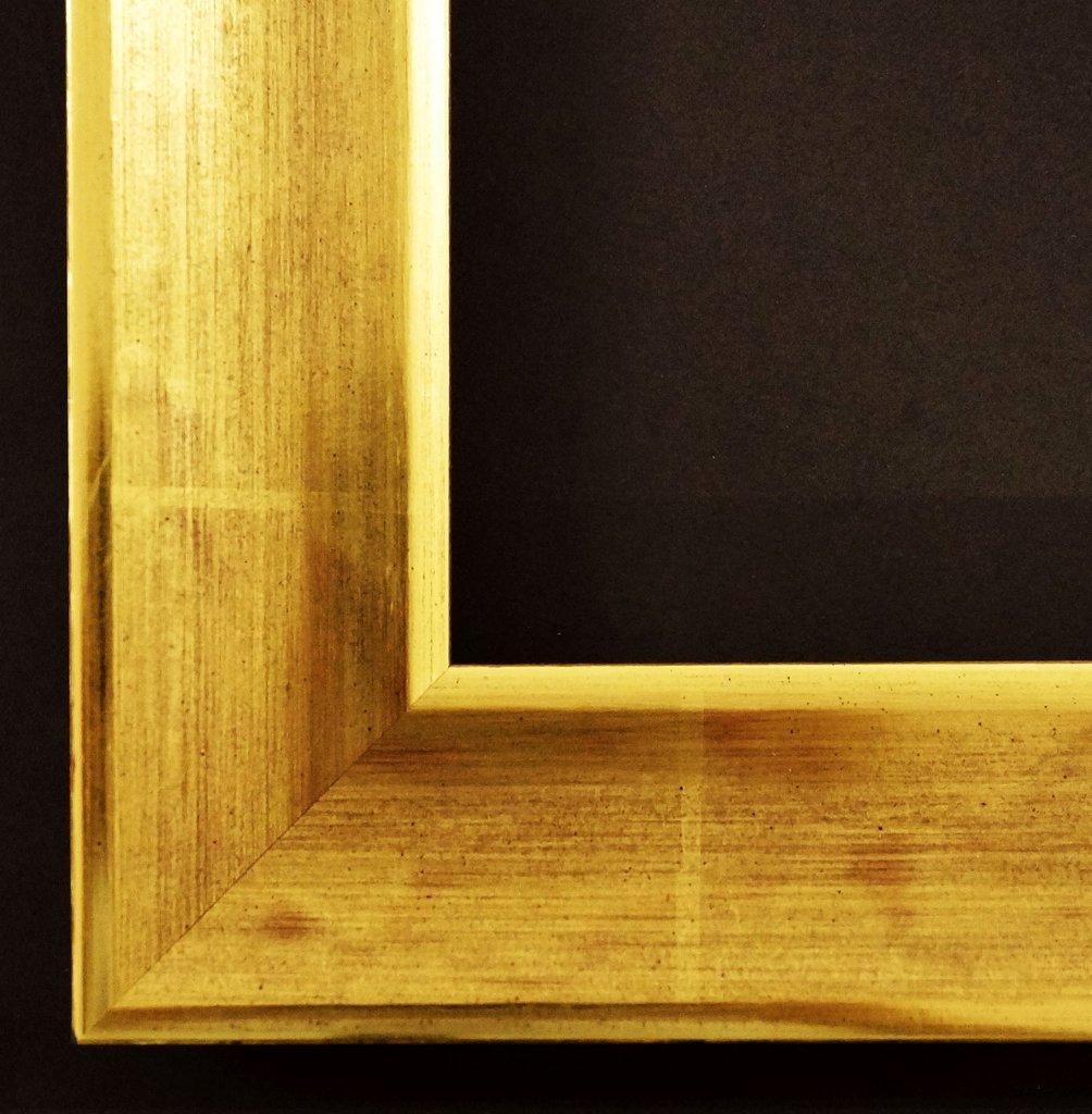 Spiegel Wandspiegel Badspiegel Flurspiegel Garderobenspiegel - Über 200 Größen - Kupferburg Echt - gold 22 Karat, Rücken braun 4,5 - Außenmaß des Spiegels DIN A0 (84,1 x 118,9 cm) - Über 100 Größen zur Auswahl - Wunschmaße auf Anfrage - Modern, Antik