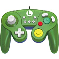 HORI Battle Pad (Luigi) - Controller USB in stile GameCube per Nintendo Switch - Ufficiale Nintendo - - Nintendo Switch
