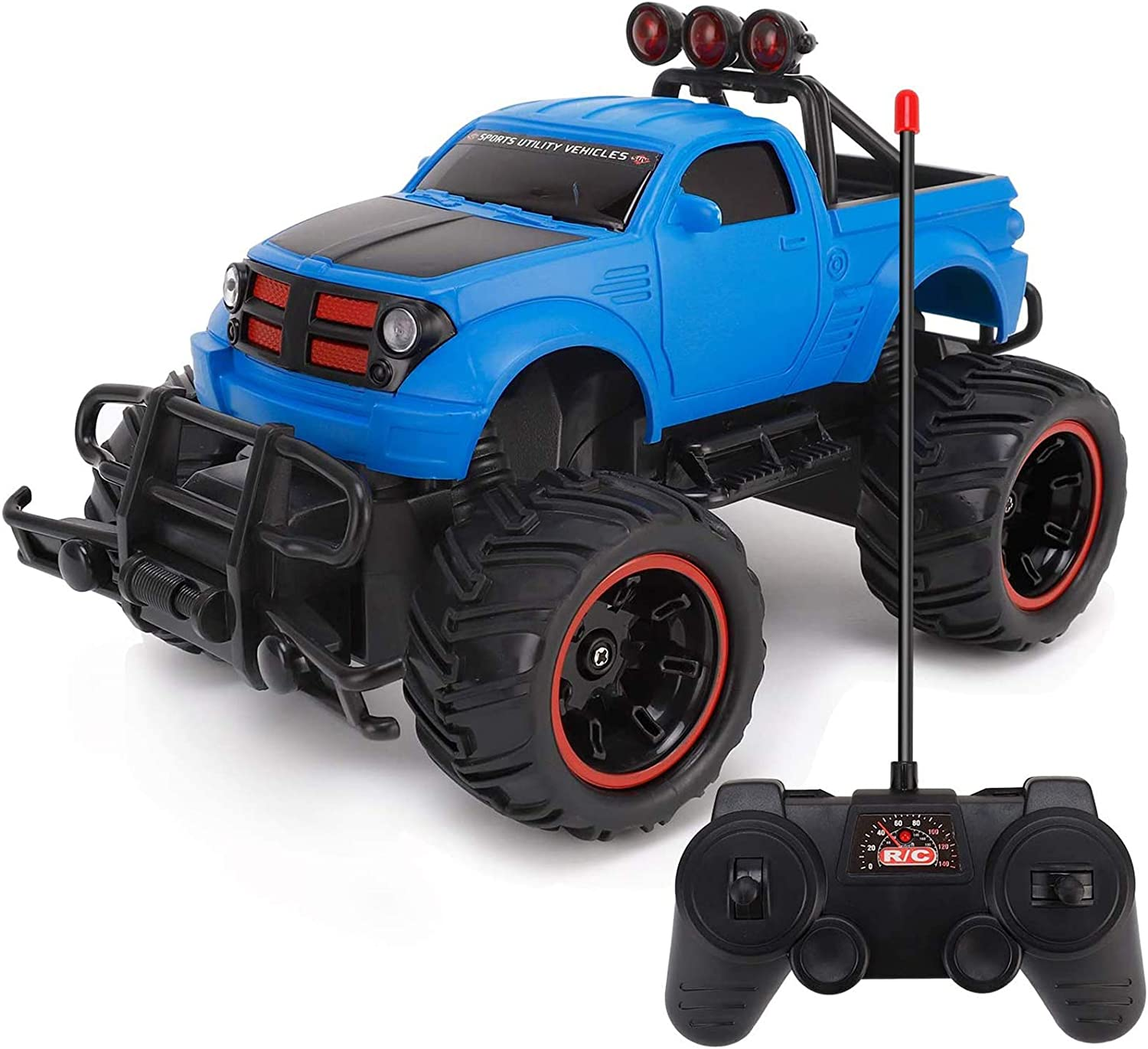 Amazon Com Liberty Imports Rc Monster Pickup Truck Remote Control Rtr Electric Vehicle Off Road Race Car 27mhz Toys Games
