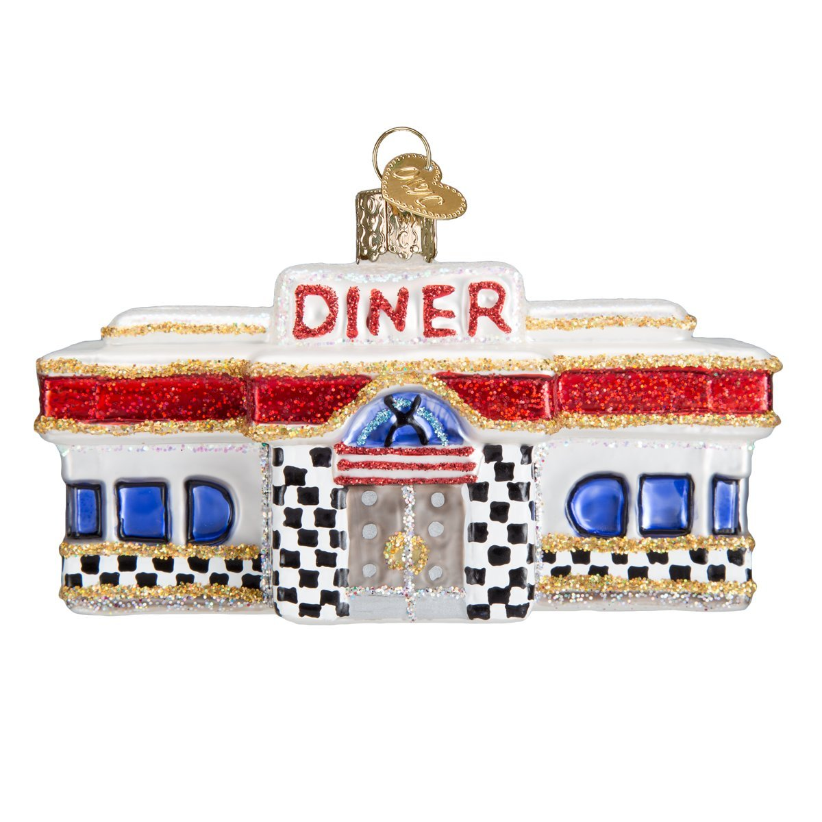 Old World Christmas Diner Glass Blown Ornament