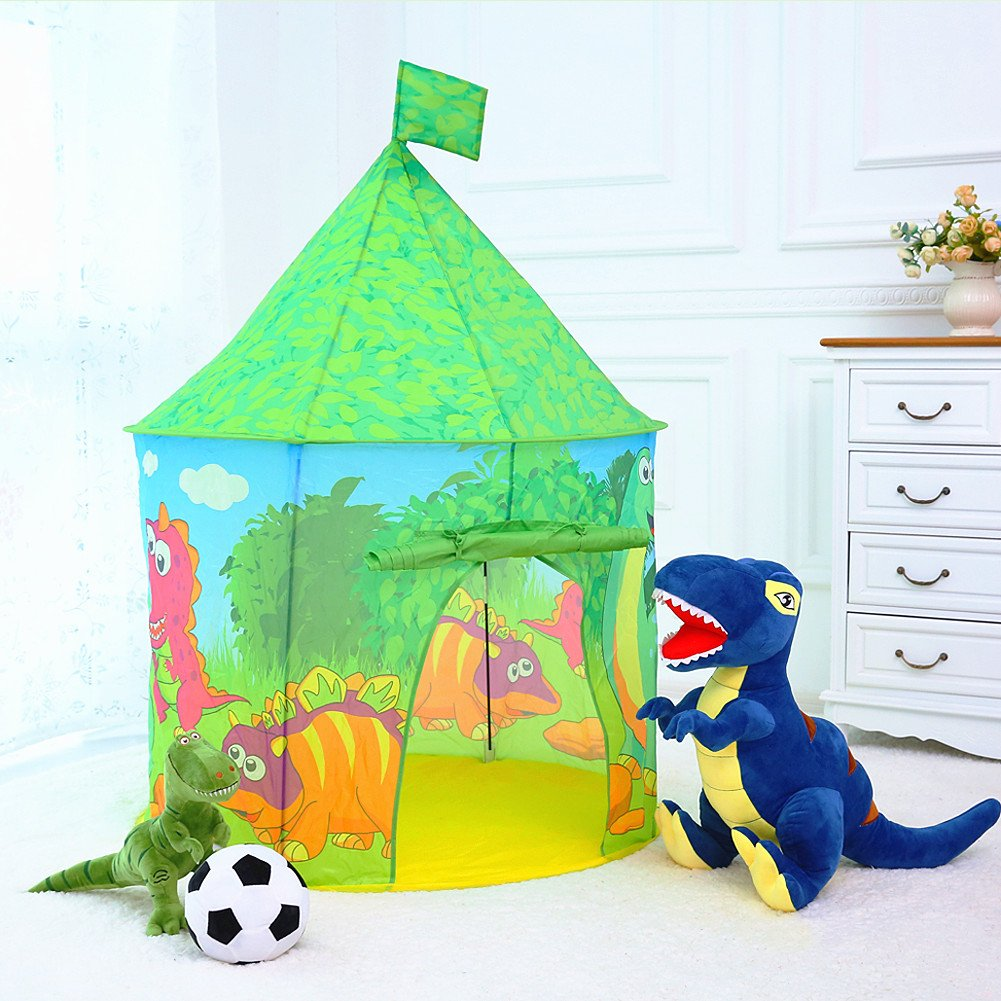 Dinosaur Castle Tent PLAY10 Playhouse Children Pop up Play Tent for Kids Indoor Outdoor Fun with Convenient Storage Carry Bag  sc 1 st  eBay & Dinosaur Castle Tent PLAY10 Playhouse Children Pop up Play Tent ...