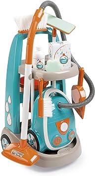 Oferta amazon: Smoby-Carrito de limpieza con aspirador y accesorios 330309, color azul y naranja , color/modelo surtido