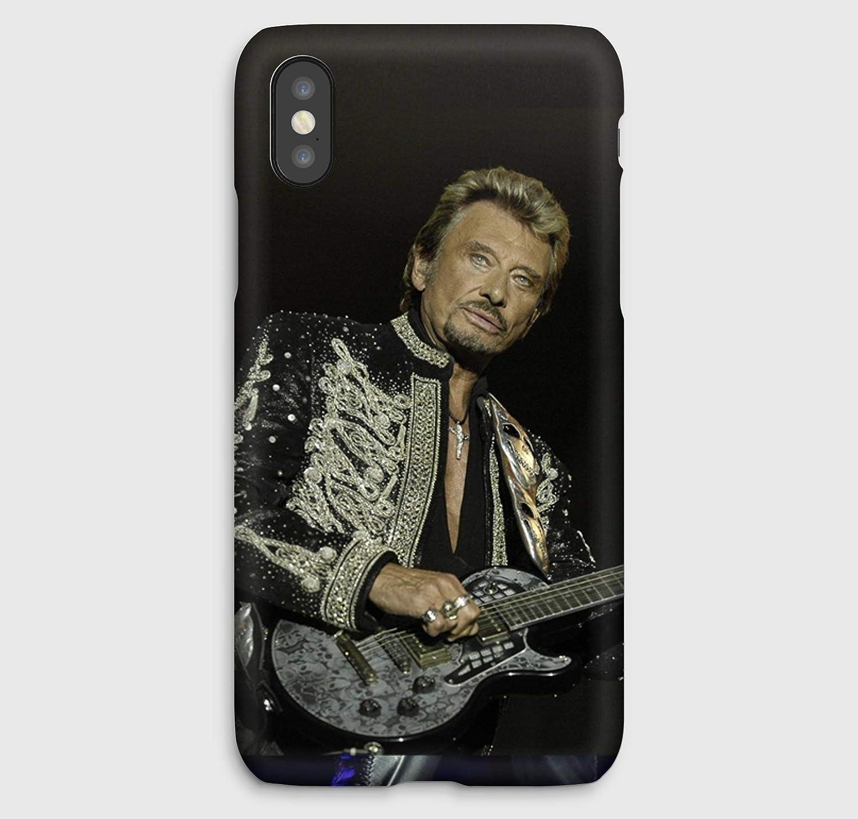 Johnny Hallyday en concert, coque pour iPhone XS, XS Max, XR, X, 8, 8+, 7, 7+, 6S, 6, 6S+, 6+, 5C, 5, 5S, 5SE, 4S, 4,