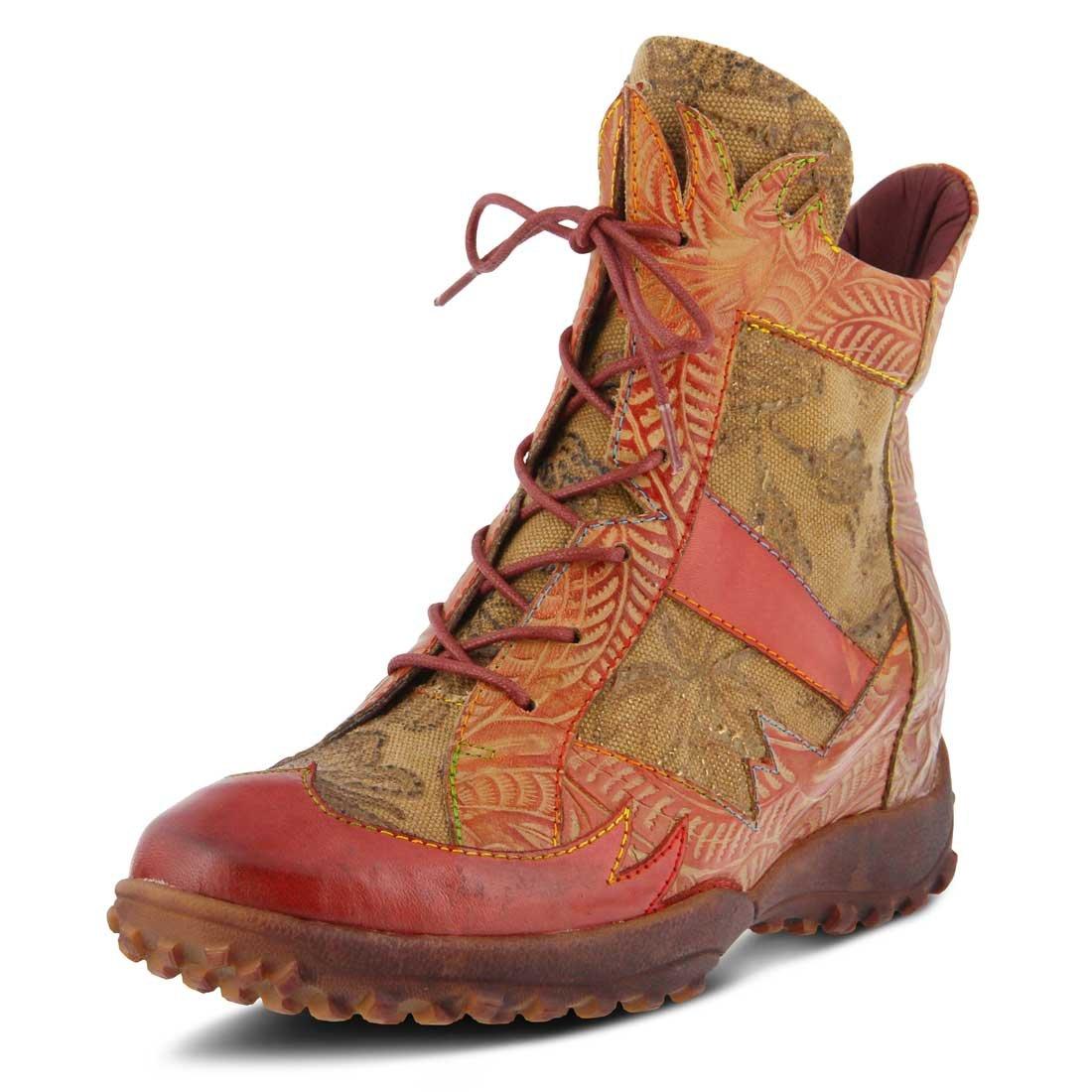 L`Artiste Womens Ileana Boot B074HC5XJB 42 M EU|Red Multi