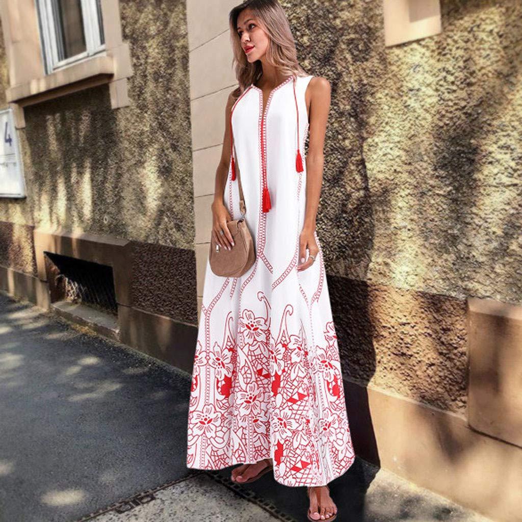 Yellsong Oversized Tassel Maxi Dress,Vintage Long Dress for Women, Summer Boho Dress Oversized Tassel Maxi Dresses for Travel Beach Holiday Party by Yellsong-Clothing (Image #5)