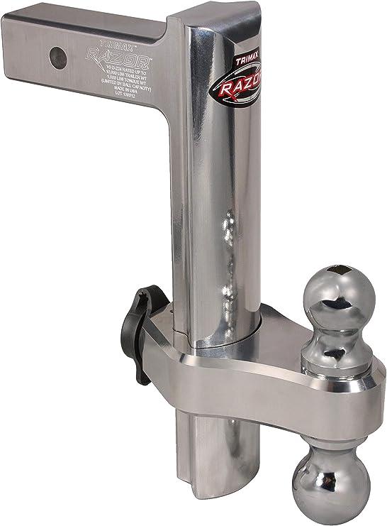Trimax Trz12al 30,5 cm Premium réglable en Aluminium d'attelage avec Double Boule d'attelage et T3 récepteur Lock