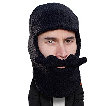 44e29bb9 Beard Head - The Original Balaclava Knit Beard Hat (Black) at Amazon ...