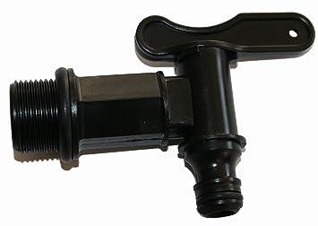 44d562e3c27ab Robinet plastique pour cuve IBC 1 4 tour Nez automatique Noir- taraudé 3