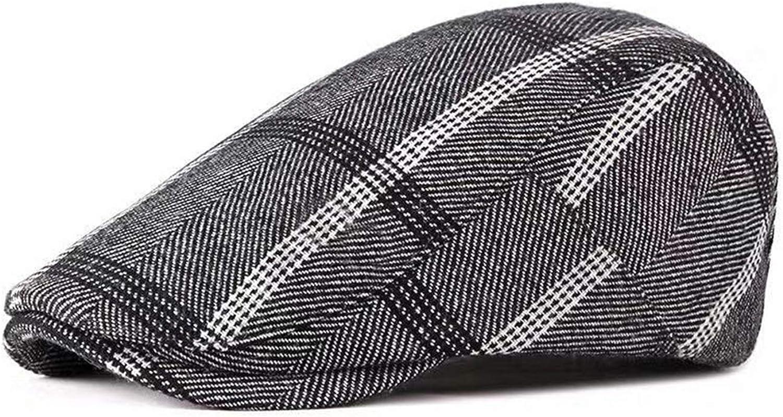 3Farben 55-59Cm FOOKREN Herren Schieberm/ütze Tweed Schirmm/ütze Winter Flatcap M/ütze