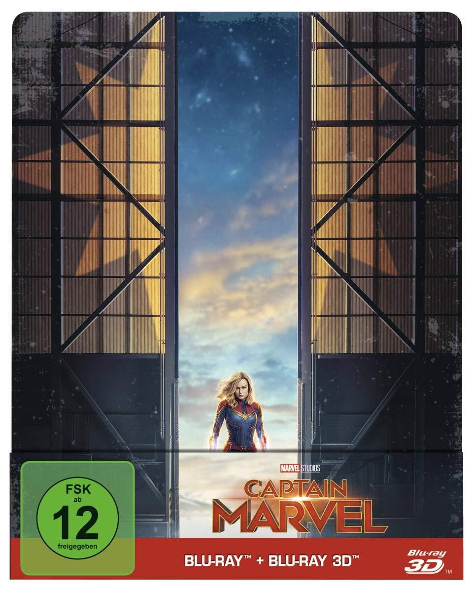 Captain Marvel - Steelbook (+ Blu-ray 2D) [2019] [Region A & B & C]