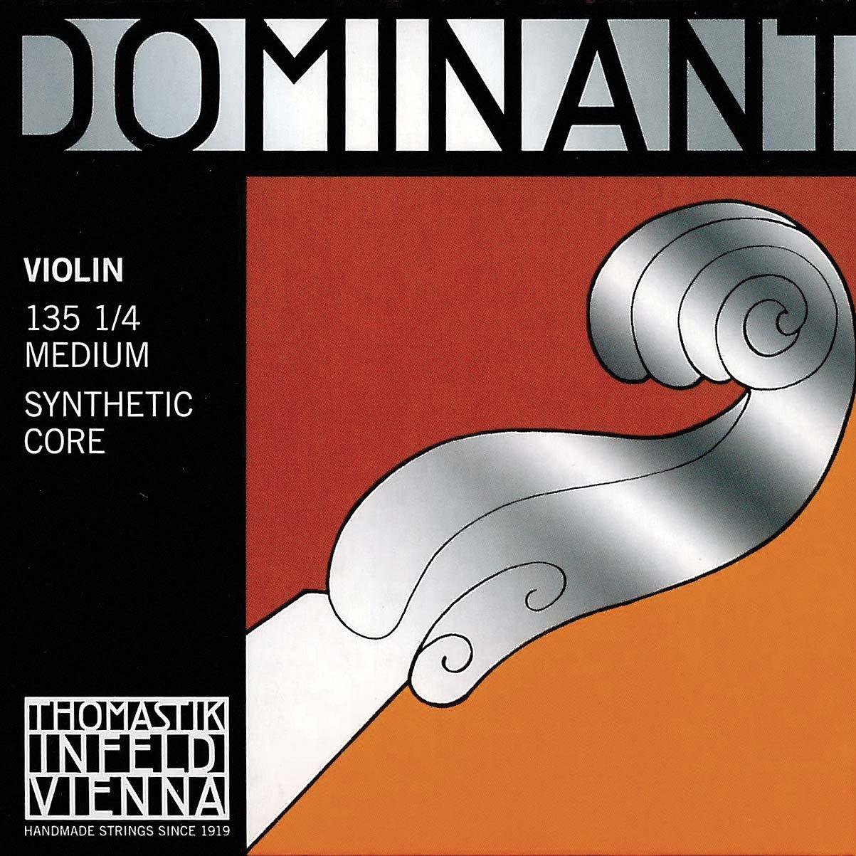 Thomastik Dominant 1/4 Violin String Set - Medium Gauge - Aluminum/Steel Ball-End E