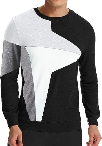 Camisa De Manga Larga Hombre Camisa De para Manga Modernas Casual Larga Camisa De Algodón Camisa De Cuello Redondo Casual Slim Fit: Amazon.es: Ropa y accesorios