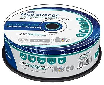 Amazon.com: MEDIARANGE 25 x DVD+R DL - 8.5 GB 8x - mit ...
