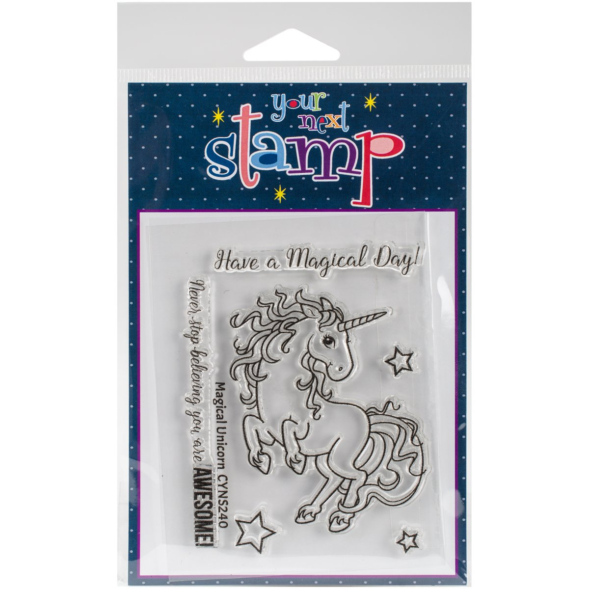 3 x 4 Your Next StampMagical Unicorn Clear Stamps
