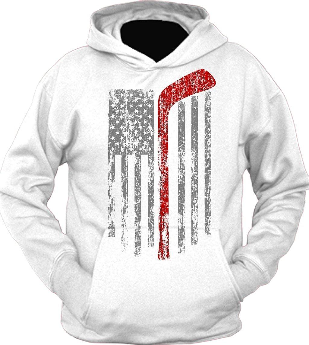 TeeShirtPalace Hoodie: American Team Hockey USA Flag