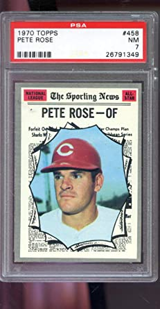 1970 Topps #458 Pete Rose Cincinnati Reds Baseball Card