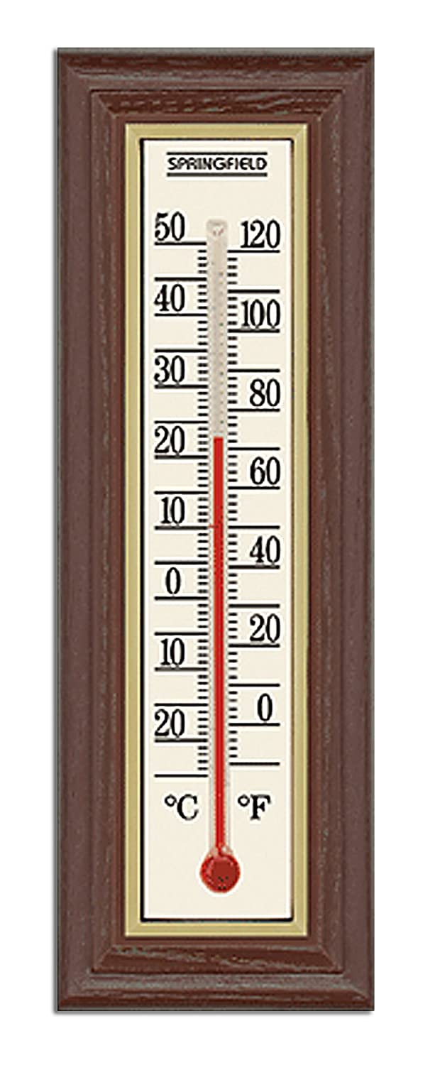 Taylor Precision Products Springfield Wood Grain Indoor Thermometer Taylor Thermometers 90115 HH-31901143