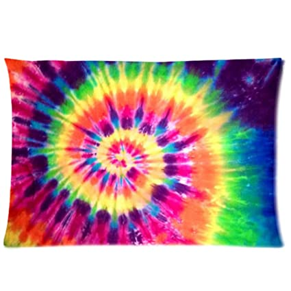 67c63c90e32b2 WECE Funny Cheap Pillow Case,Colorful Tie Dye Pillowcase, Rectangle  Zippered Pillow Cases - Pillow Protector Cover Case - Standard Size 20