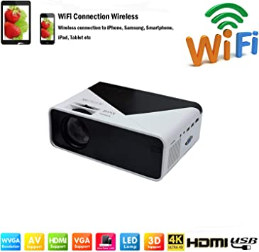 SOTEFE® WiFi Proyector Portable 6000 Lumens-Mini LED Proyector ...
