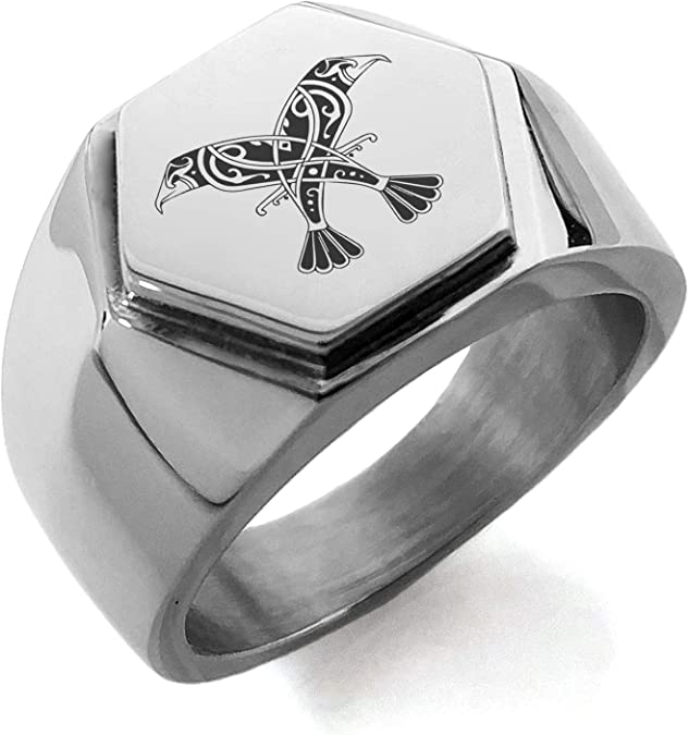 G007 Odins Raven Huginn Muninn Pewter Lapel Pin Brooch Jewelry