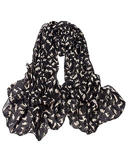 NEEKY Femmes Mode Châle en écharpe, Echarpe en Coton Écharpe Longue à la Mode pour Femmes, Petit ChatÉcharpe Châle