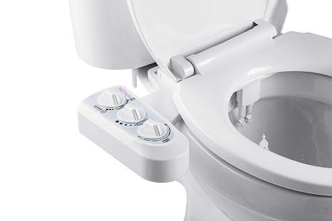 BisBro Deluxe Comfort Bidet | Dusch-WC zur optimalen Intimpflege | Mit Warmwasser | Einfach unter dem Klodeckel installieren