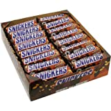 Snickers Single Bar Chocolate Candy, 48 bars of 1.86oz each.