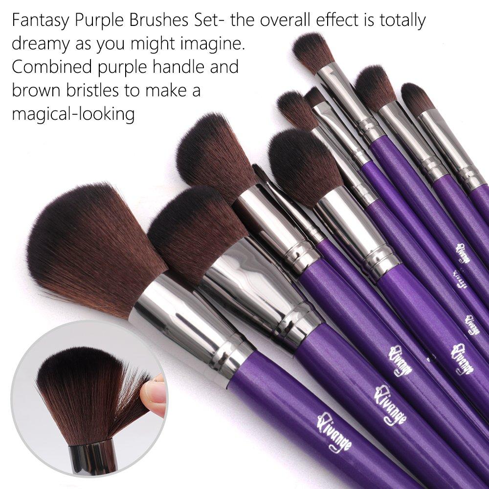 Amazoncom Qivange Makeup Brushes 10Pcs Professional Foundation