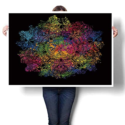 Amazon Com Modern Art Picture Colorful Canvas Print