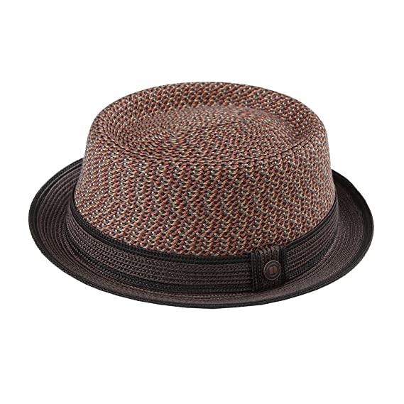 0fc331cf054 Dasmarca Bill Russett Crushable   Packable Multi-color Porkpie Summer Straw  Hat S