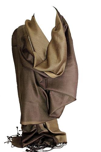 Dos de seda sensación cara Reversible vibrante abrigo bufanda estola chal Hijab cabeza bufandas