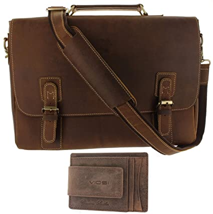 Image Unavailable. Image not available for. Color  Viosi Mens RFID Leather  Messenger Bag ... f42b8059db8a0