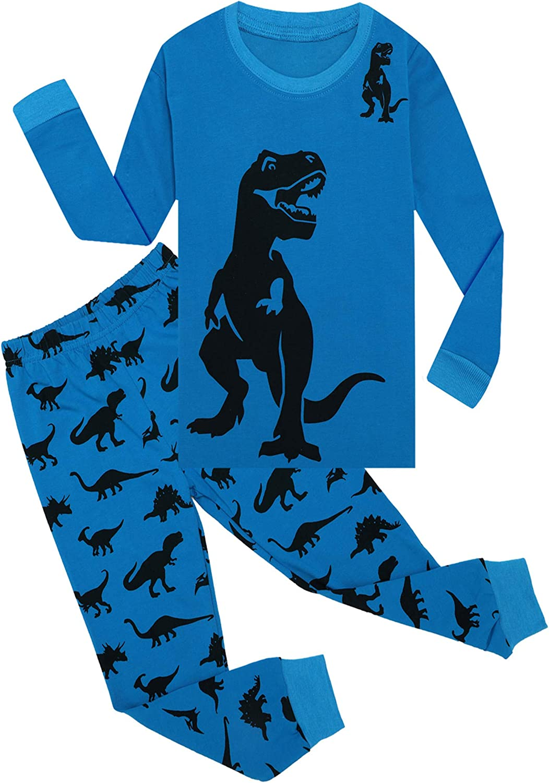 Tkala Boys Pajamas Winter Outfits Clothes Long Set Pjs Dinosaur 100/% Cotton Little Kids Sleepwear 2-12 Years
