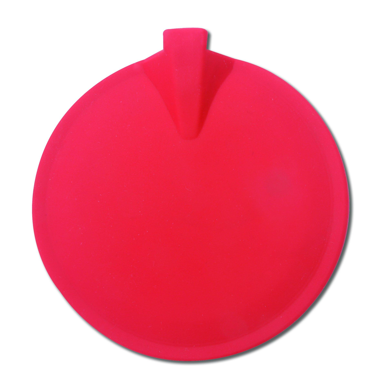 3B Scientific W53112MR Red Round Carbon Rubber Electrodes, 3'' Diameter