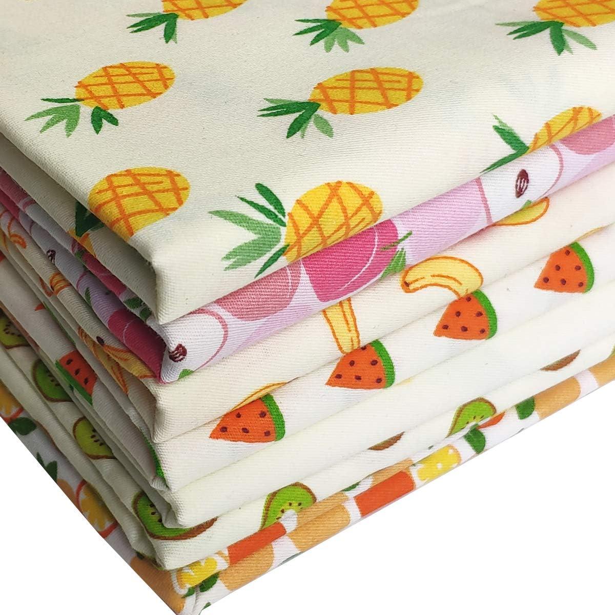 Fruit Blue Fabric Apple Pineapple Cherries Banana Watermelon Fruit Salad Apparel Quilting Cotton Fabric a228