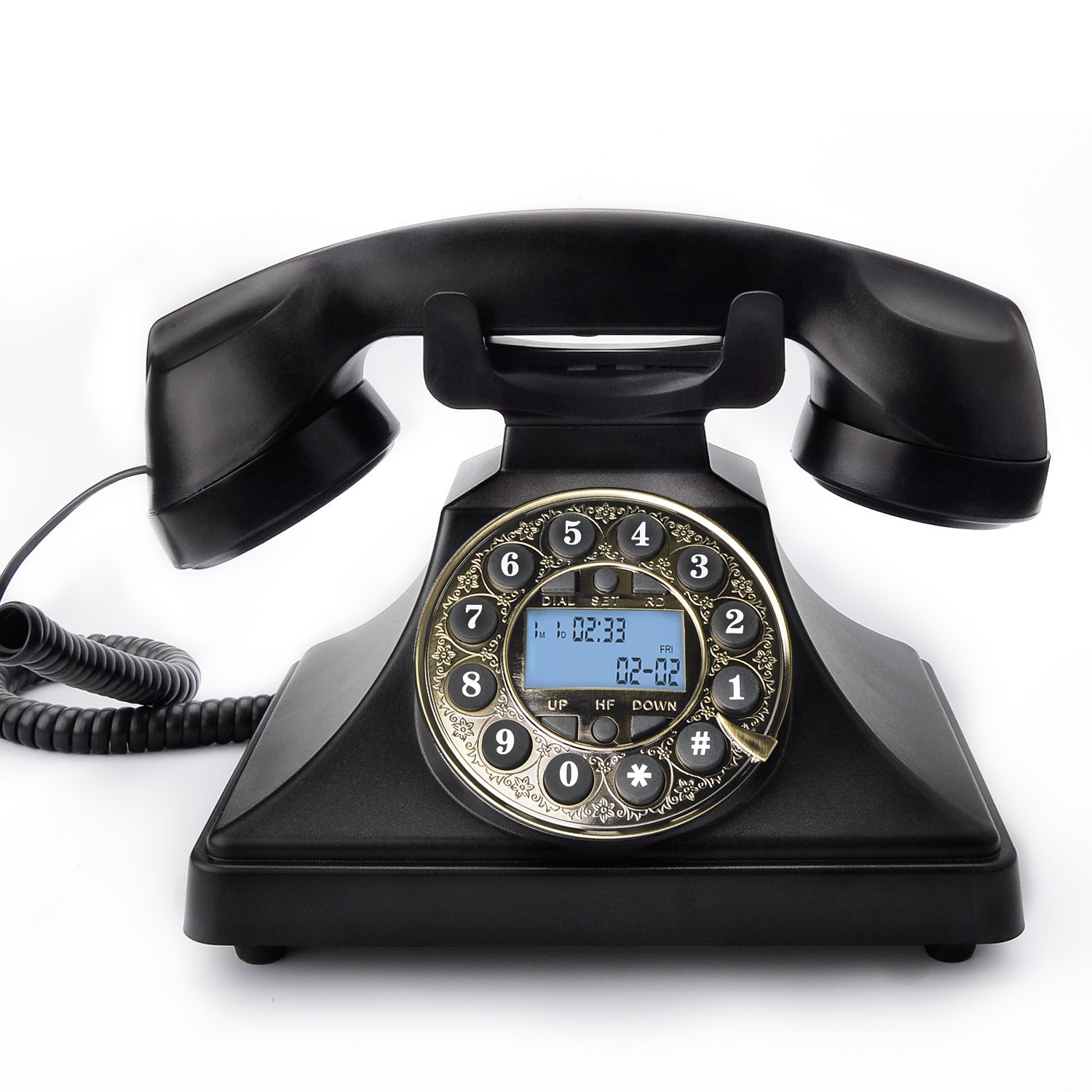 Classic Style Button Dial Corded Phone